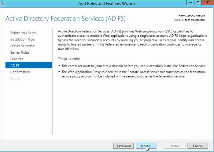 SSO with ADFS for Azure AD / Part I – Tech Trainer